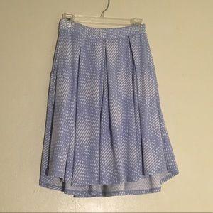 Lularoe Baby Blue White Print Madison Skirt